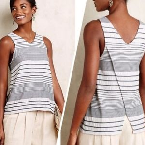 Anthropologie Deletta Striped Tank XS